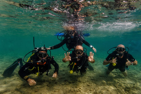 Learn to dive in Dahab