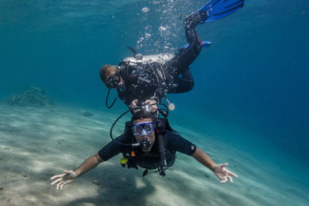 GBI try diving in Dahab