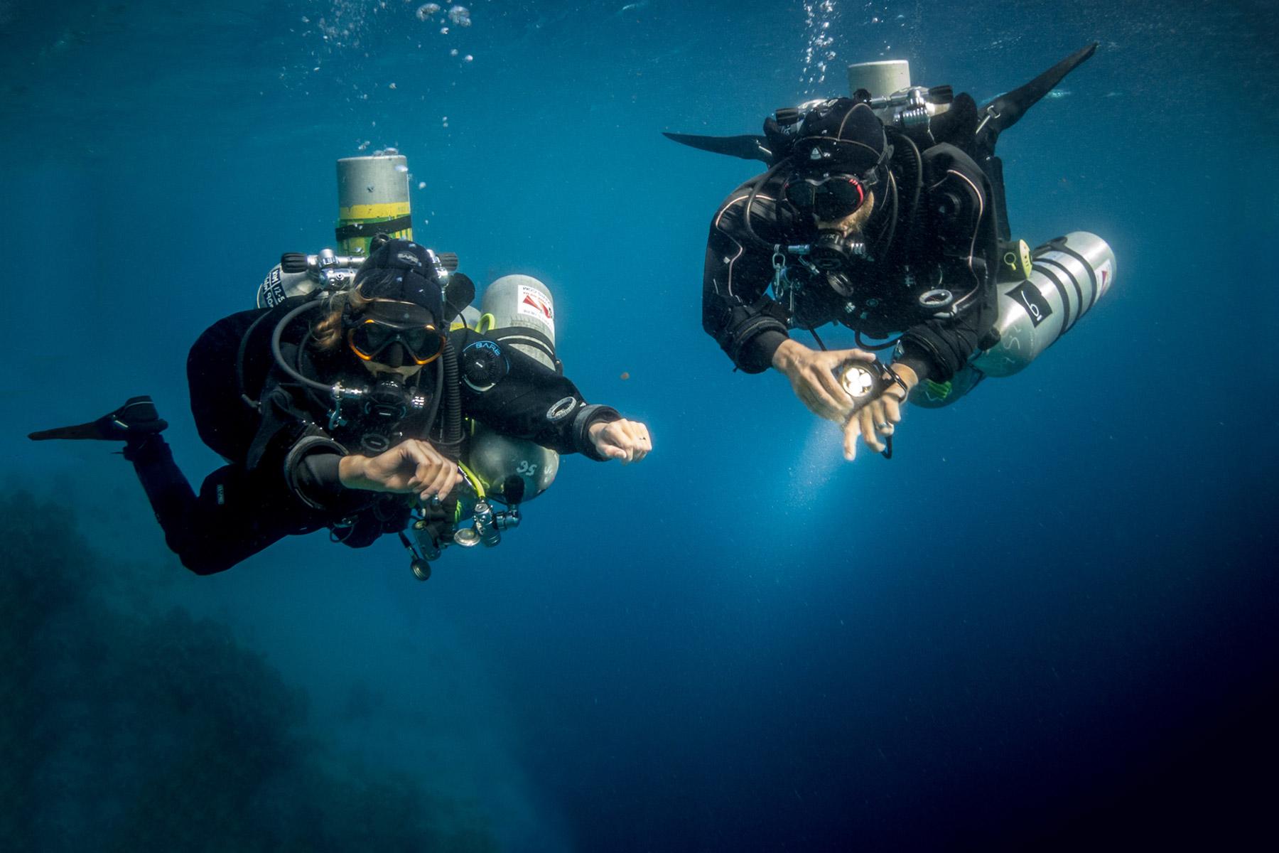 Preparing for a Dahab technical dive