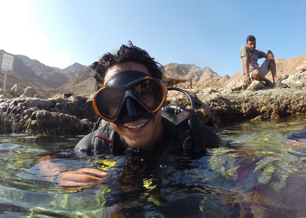 Blue Hole shore dive