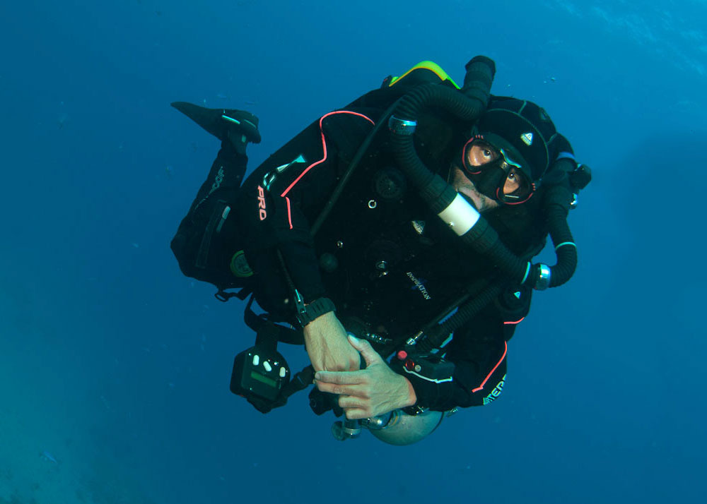 Tec dive with a Closed Circuit Rebreather (CCR)